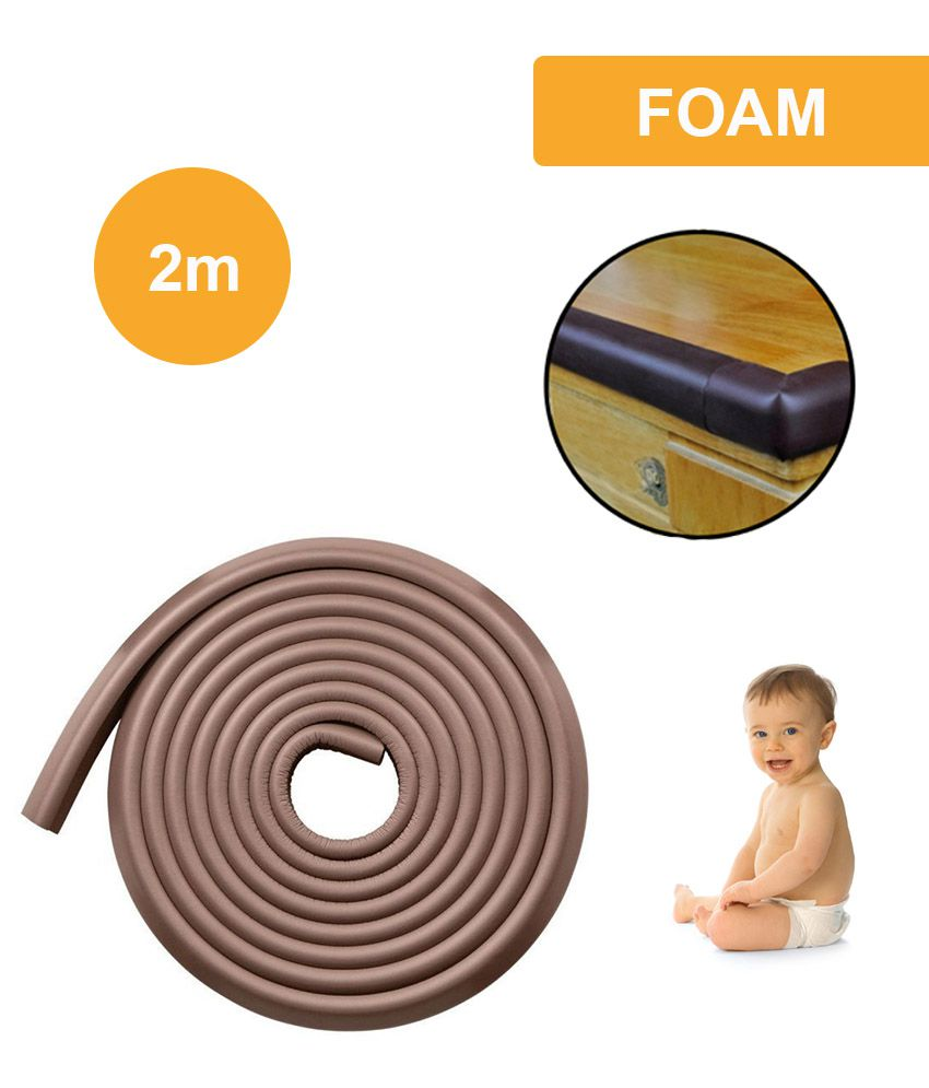 lifestyle you brown colour child baby safety strip foam cushion rh snapdeal com