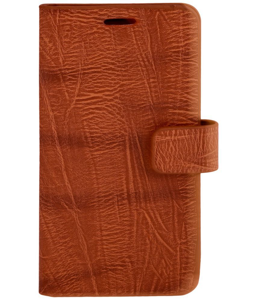 Intex Aqua Note 5.5 Flip Cover by Zocardo - Brown