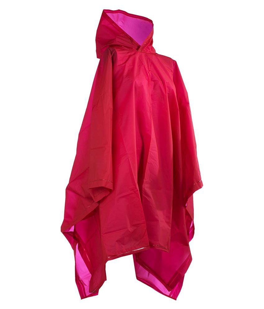 Ssd Polyester Short Rainwear - Red
