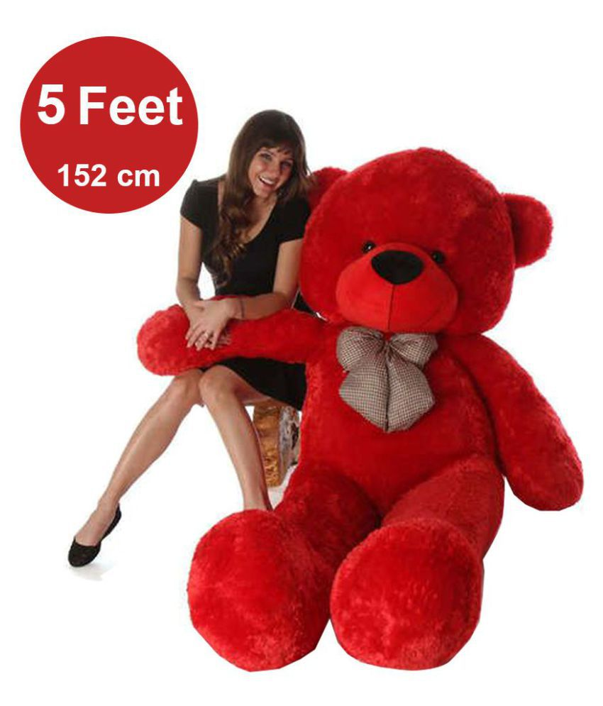 b611eb1a7f2c AVS 5 Feet Stuffed Spongy Huggable Cute Teddy Bear - 152 cm (Red Color) -  Buy AVS 5 Feet Stuffed Spongy Huggable Cute Teddy Bear - 152 cm (Red Color)  Online ...