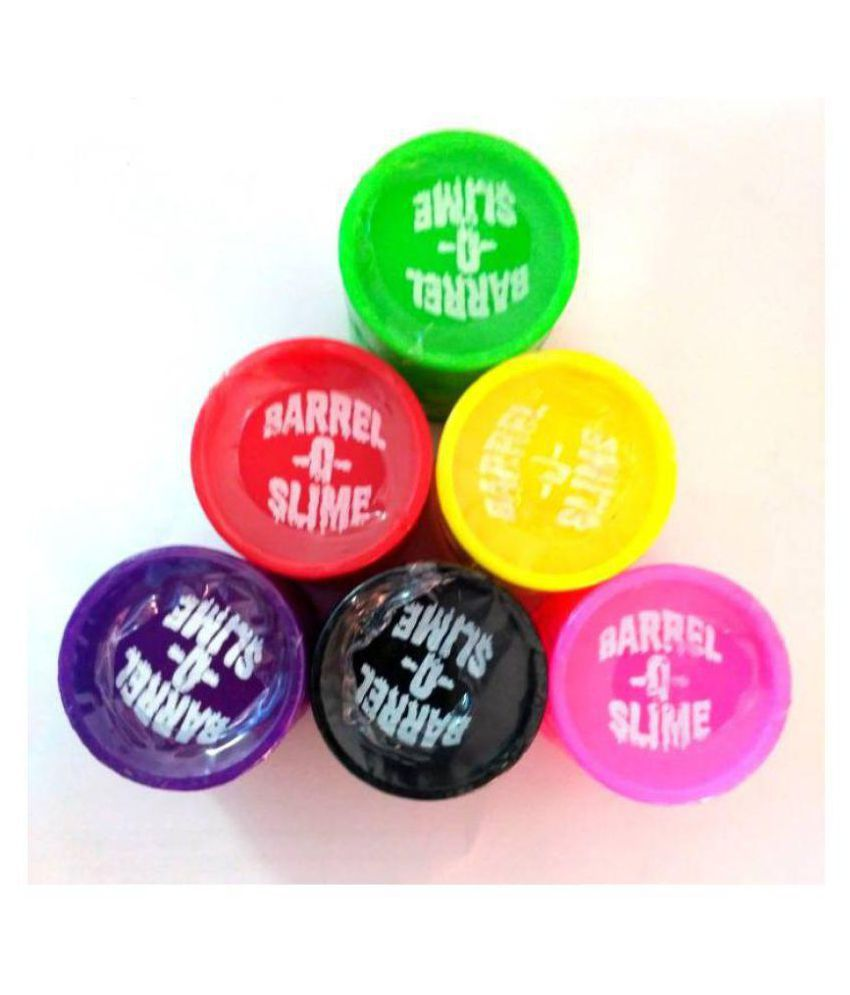 niharika barrel o slime putty toy set of 6