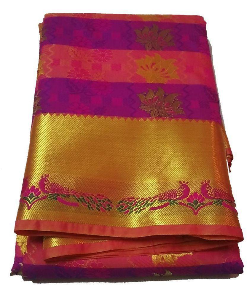 vrcg Multicoloured Kanchipuram Saree