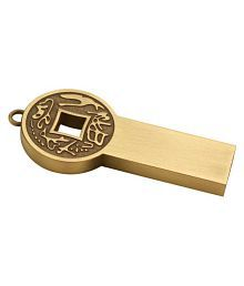 Tobo Chinese Ancient Coin Metal Pendrive 16GB USB 2.0 Fancy Pendrive Pack of 1