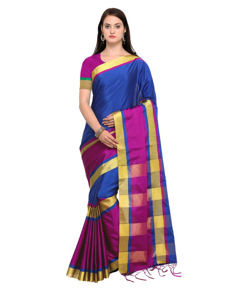 Kvsfab Multicoloured Cotton Silk Saree