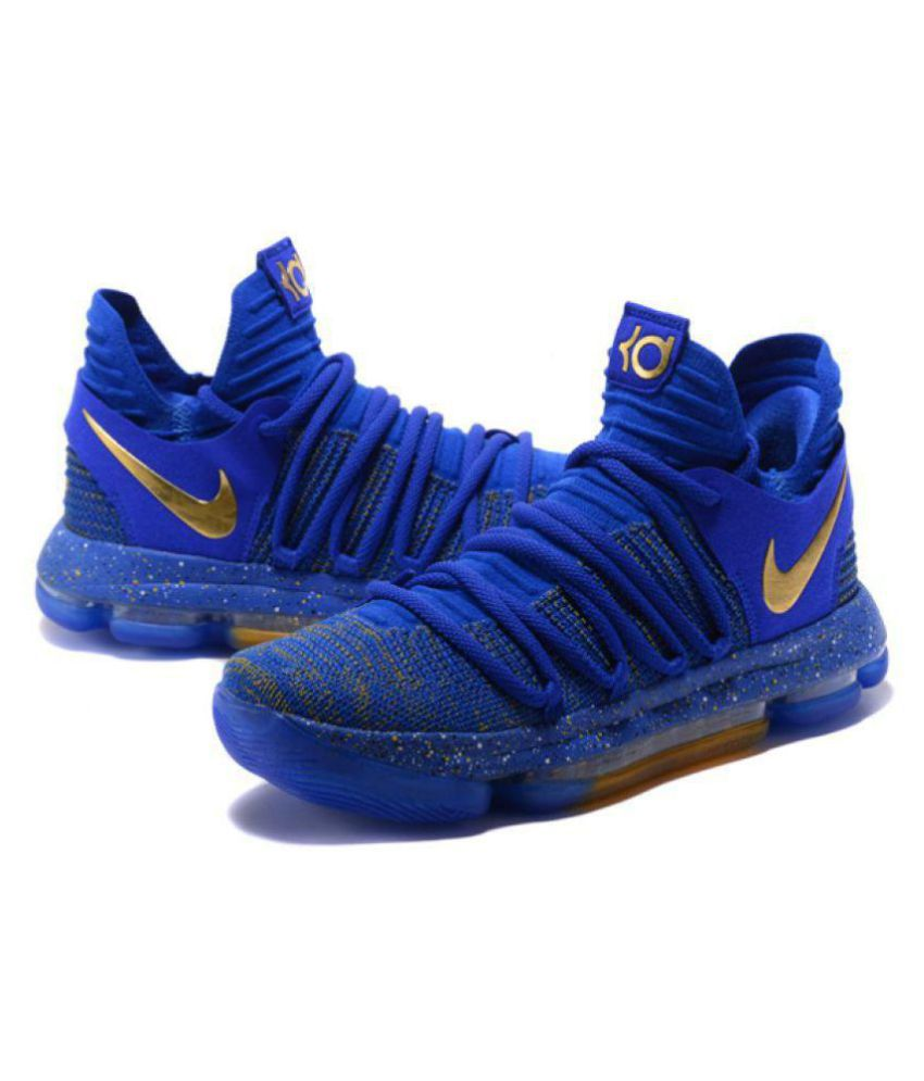 2f1d829853bb Nike 2018 KD10 BLUE GOLD Blue Basketball Shoes - Buy Nike 2018 KD10  BLUE GOLD Blue Basketball Shoes Online at Best Prices in India on Snapdeal
