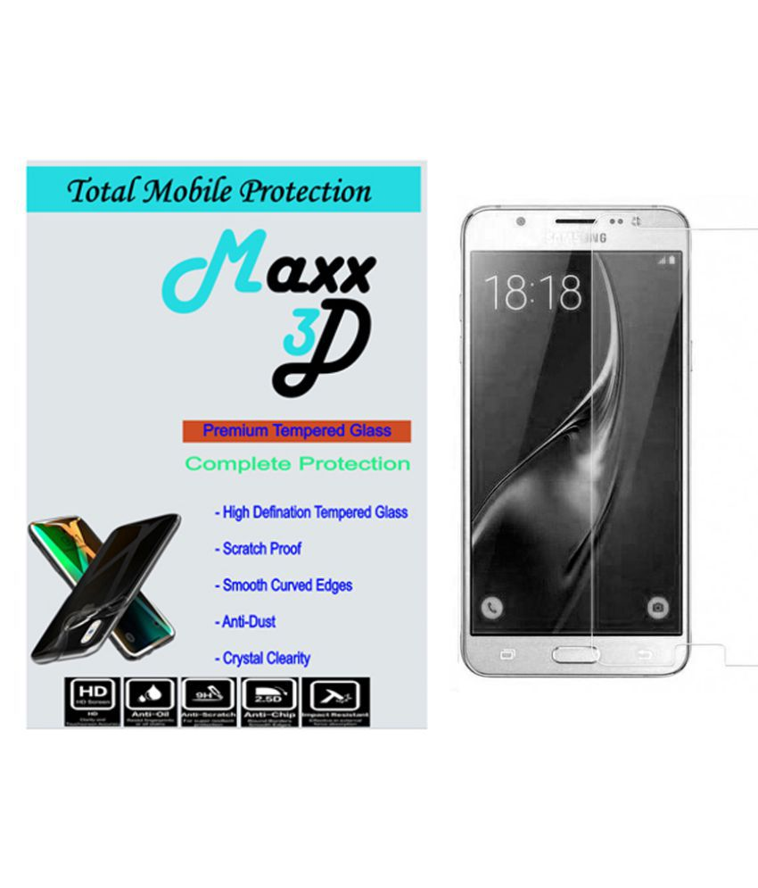 Samsung Galaxy J5 Tempered Glass Screen Guard By MAXX3D