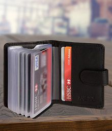 Card holders buy card holders online best price snapdeal quick view hidesleek flap black card holder reheart Images