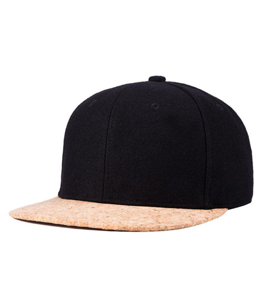 Kamalife Black Embroidered Rayon Hats