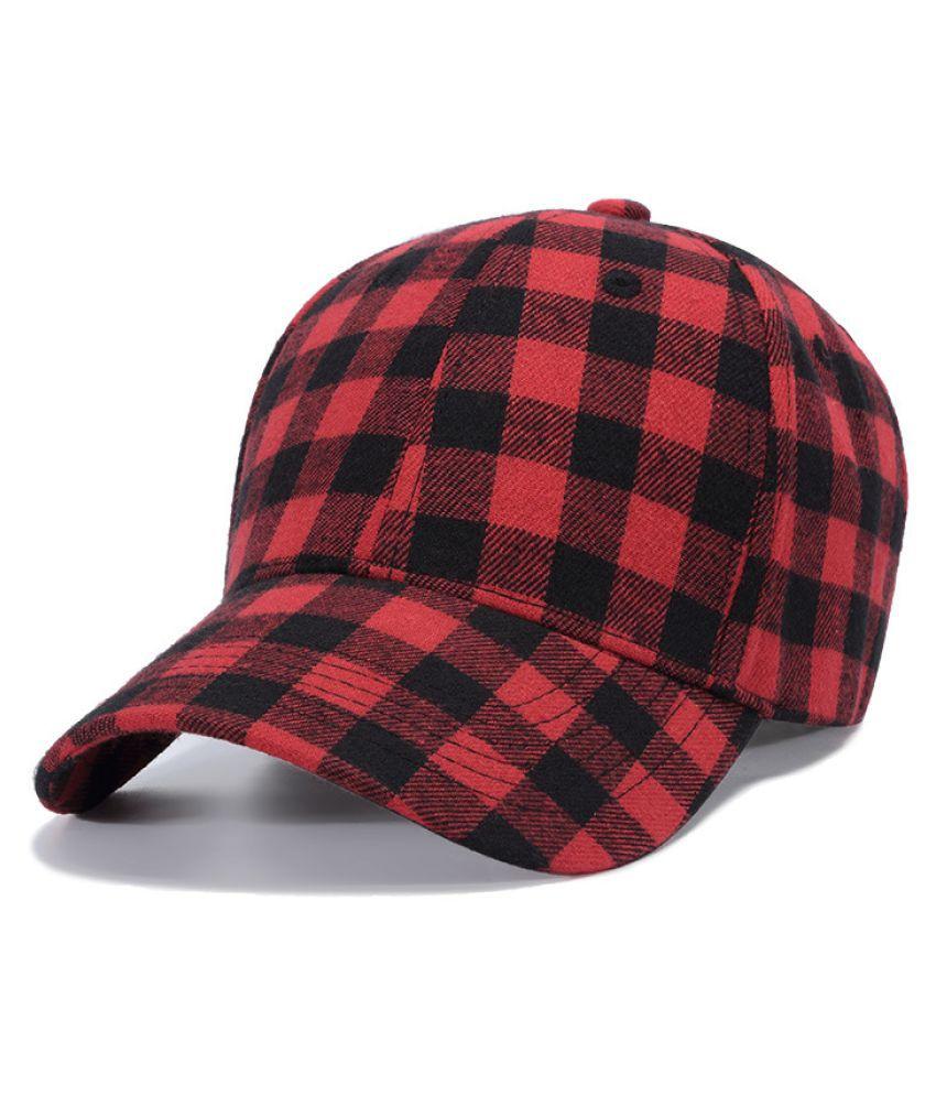 Kamalife Red Printed Cotton Hats