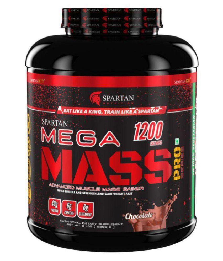 Spartan Mega Mass PRO Series Chocolate 5 lb Weight Gainer Powder