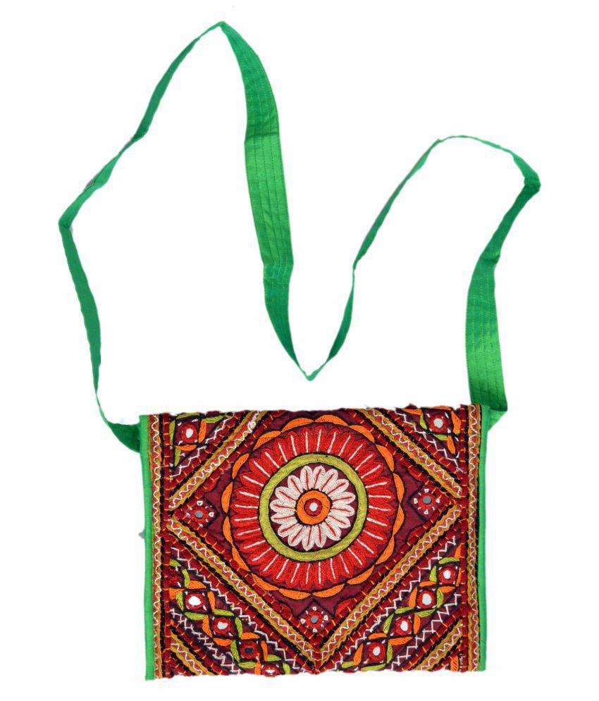 ETHNIC HAND BAG Multi Cotton Shoulder Bag