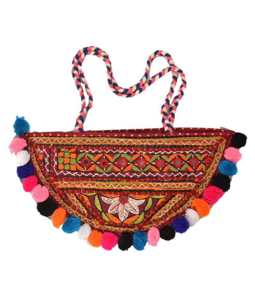 ETHNIC HAND BAG Multi Cotton Shoulder Bag