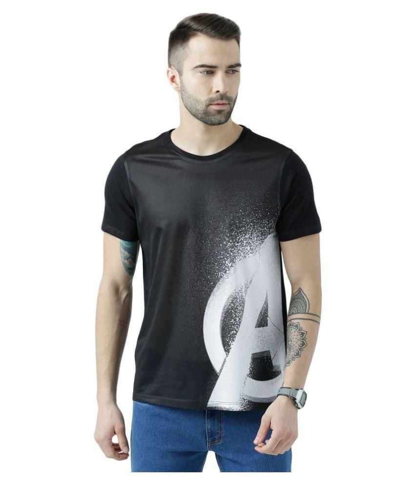 Marvel Avengers Black Round T-Shirt Pack of 1