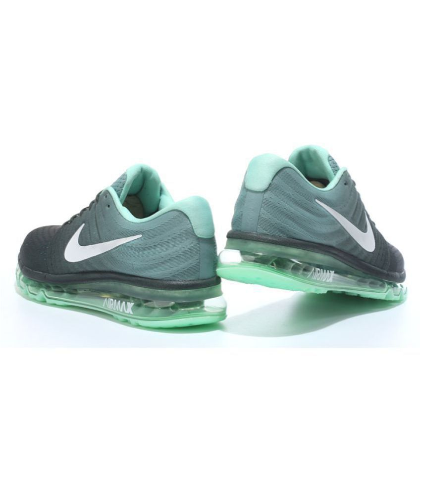 finest selection 217a3 c51ac ... Nike AIRMAX 2017 ALL COLOUR Green Running Shoes ...