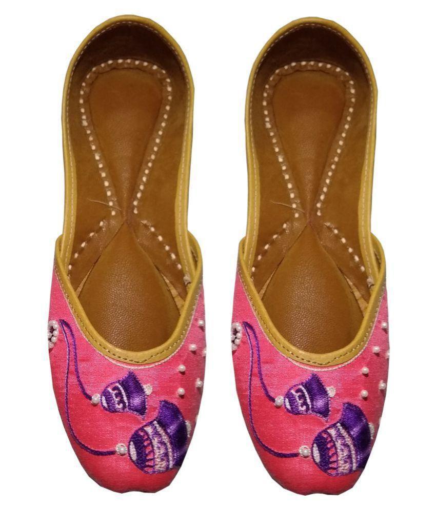 Pagarkhi Pink Ethnic Footwear