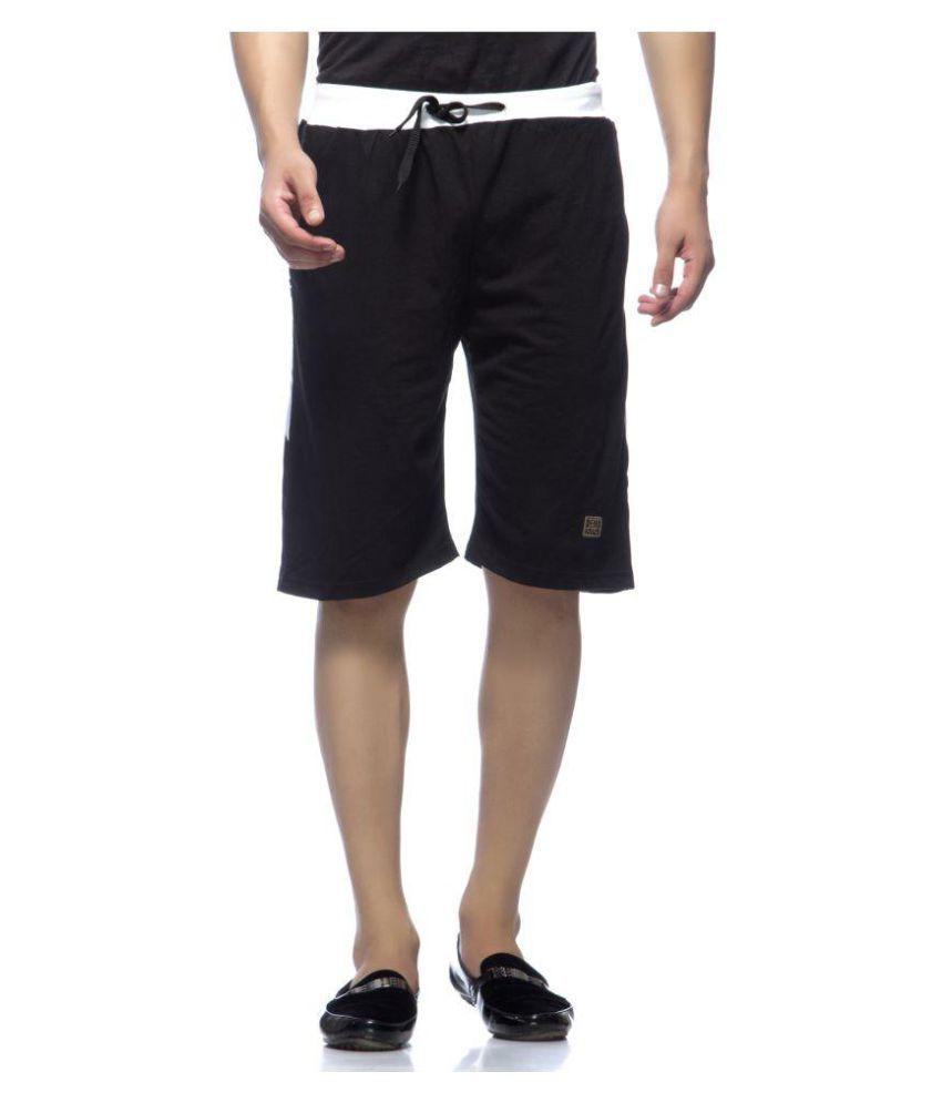 Demokrazy Black Shorts