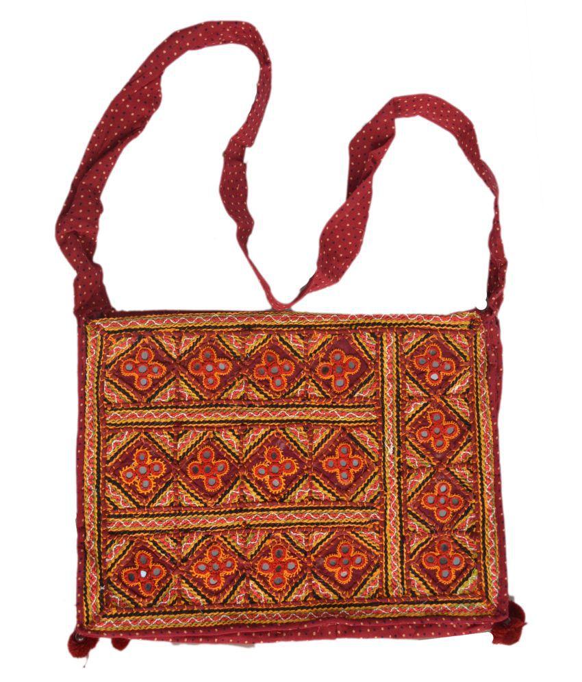 ETHNIC WOMEN HAND BAG Multi Cotton Shoulder Bag
