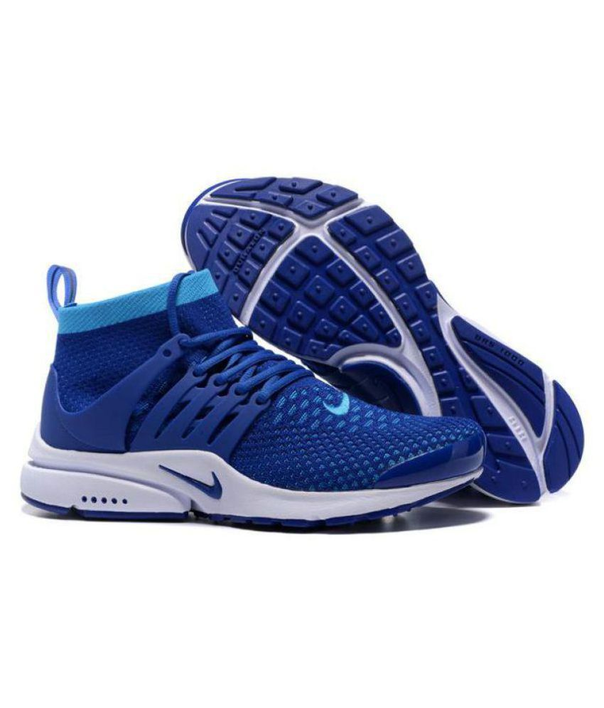 4472ca3c3fed89 Nike Air Presto Ultra Flyknit Blue Running Shoes - Buy Nike Air Presto  Ultra Flyknit Blue Running Shoes Online at Best Prices in India on Snapdeal