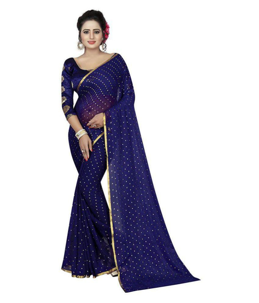 317b049f5e Nisha Creation Blue Chanderi Saree - Buy Nisha Creation Blue Chanderi Saree  Online at Low Price - Snapdeal.com