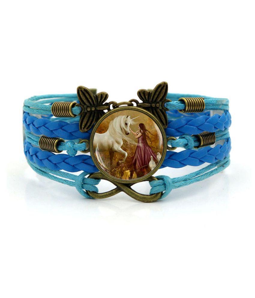 Kamalife Fashion Pink Alloy Letter Bling Bracelet Accessories Gift