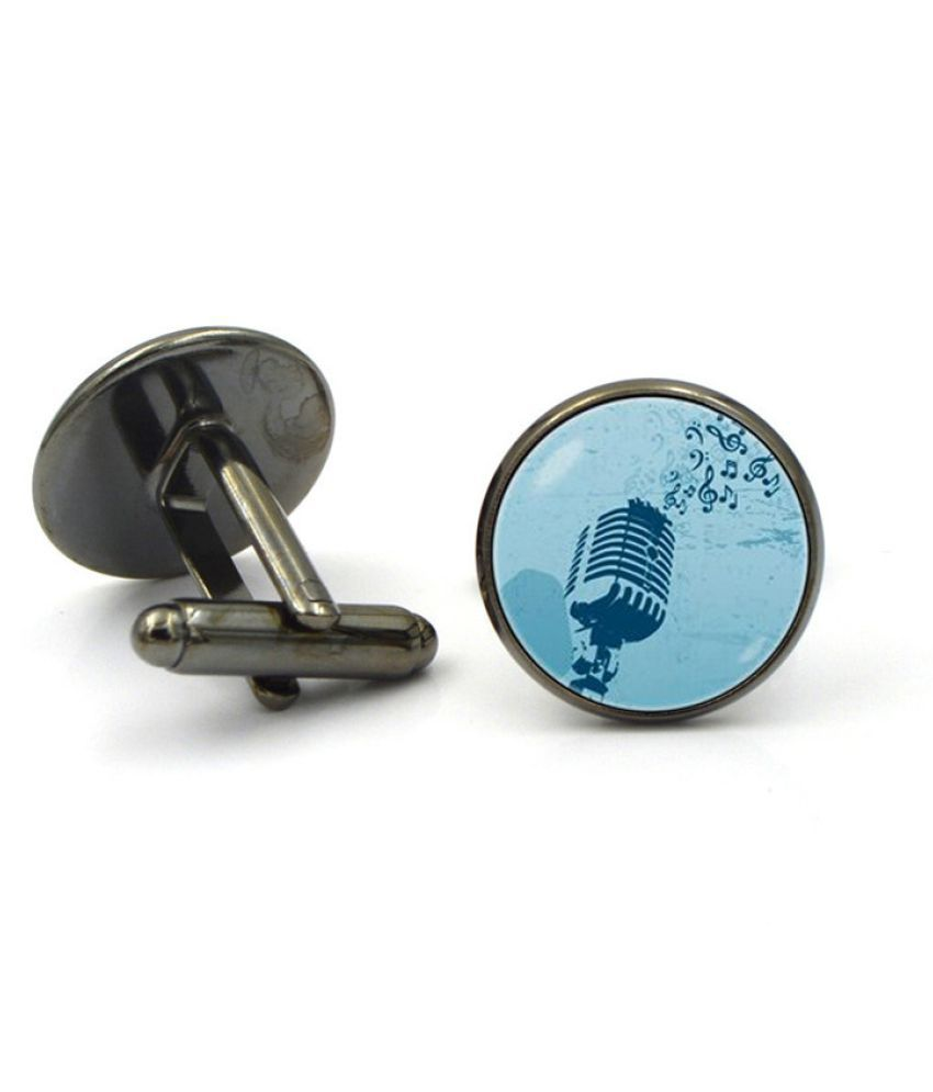 Kamalife Fashion Silver Alloy Letter Gem Cufflinks&Buttons Jewellery Accessories Gift