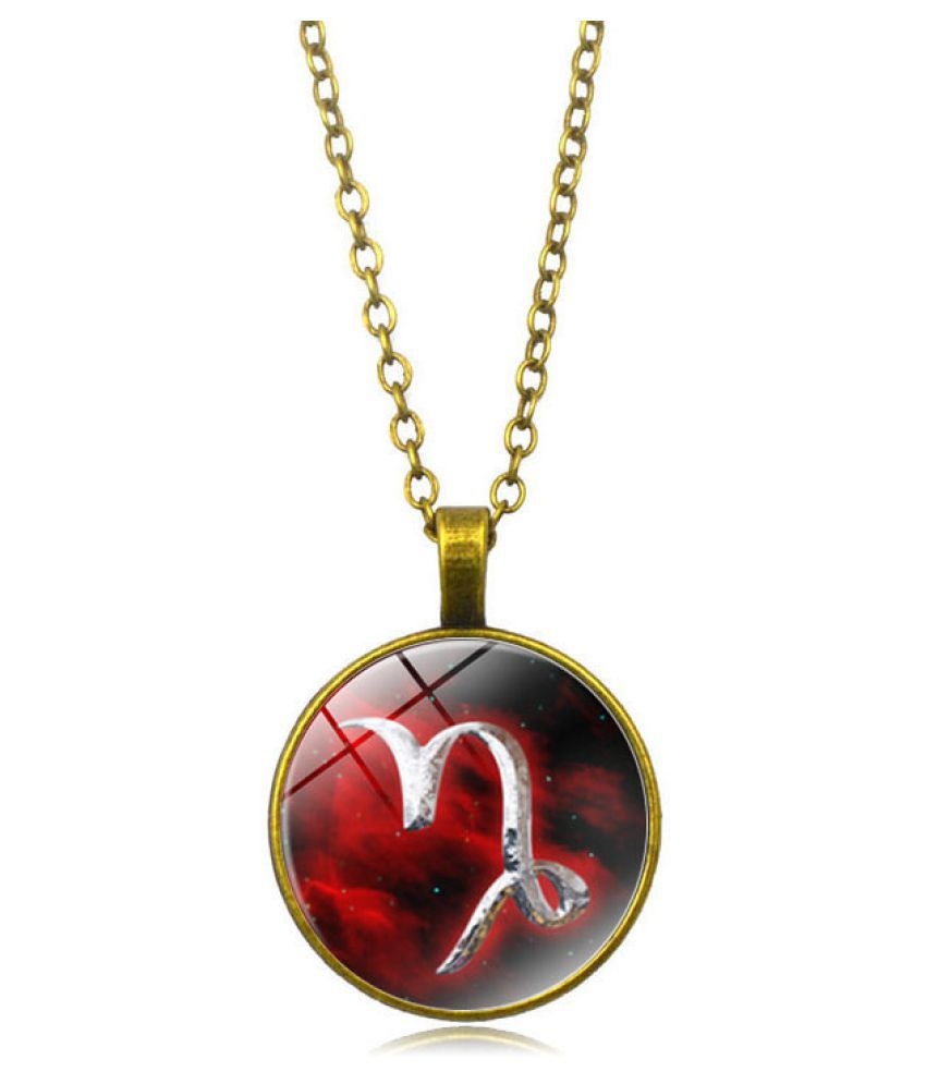 Kamalife Fashion Red Pendant Gem Bling Ice Out Necklace Accessories Gift
