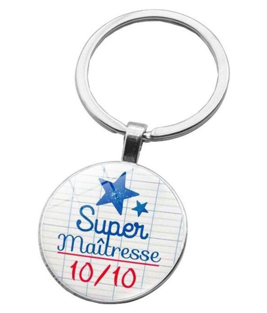 Kamalife Fashion White Zinc Alloy Bling Keychain Accessories Gift