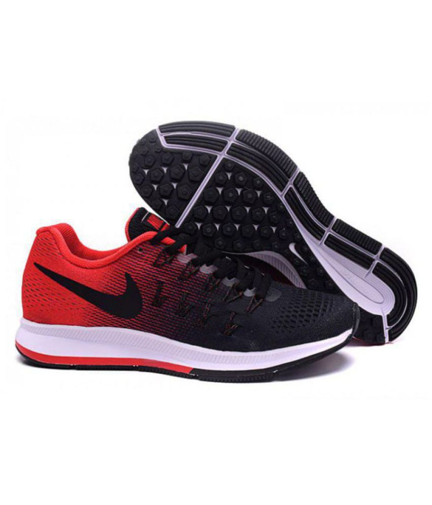 new style 74d3a 4bd57 Nike AIR ZOOM PEGASUS 33 Red Running Shoes - Buy Nike AIR ZOOM PEGASUS 33  Red Running Shoes Online at Best Prices in India on Snapdeal
