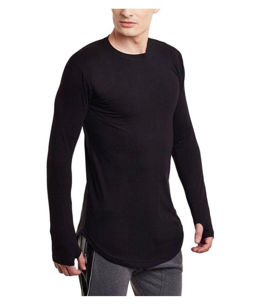 03c1aa2fb PAUSE Black Round thumbhole T-Shirt