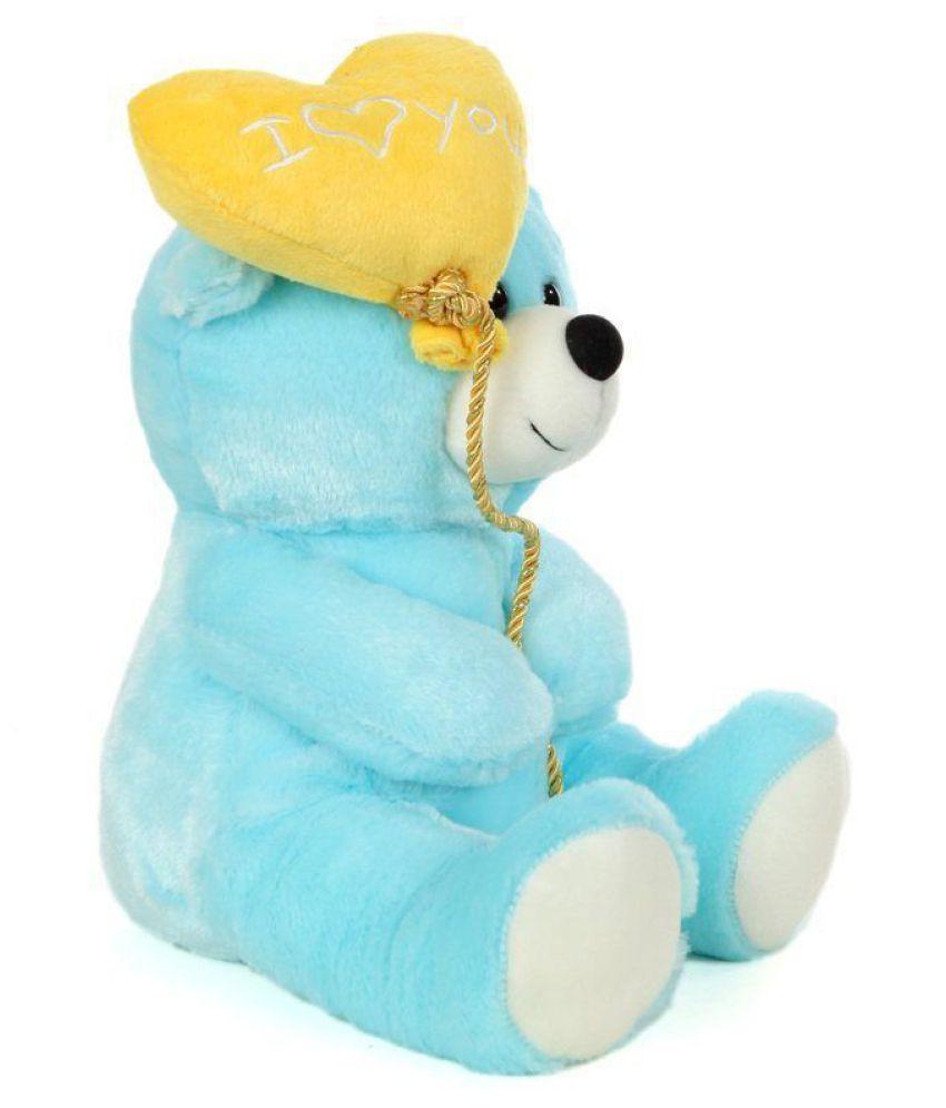 12171fda92df ... AVS Soft Stuff Cute Teddy Bear With I Love You Heart Ballon Blue Soft  Toy 27cm