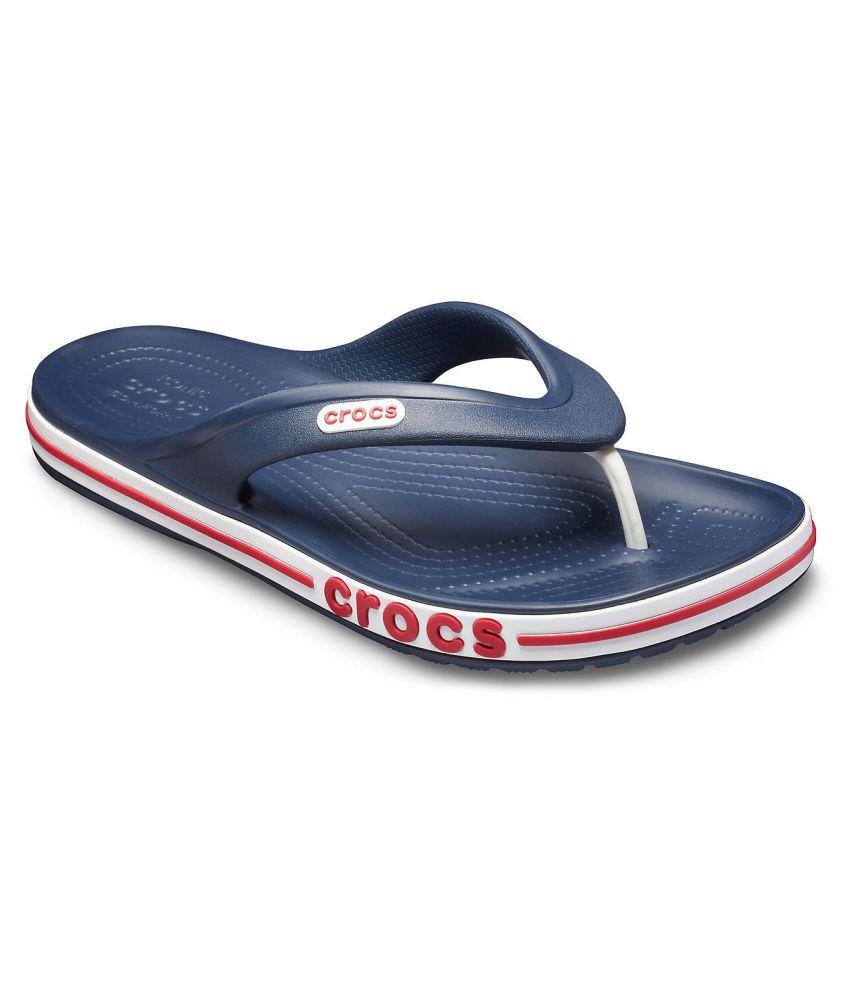 db8899e0b48 Crocs Bayaband Navy Thong Flip Flop Price in India- Buy Crocs Bayaband Navy  Thong Flip Flop Online at Snapdeal