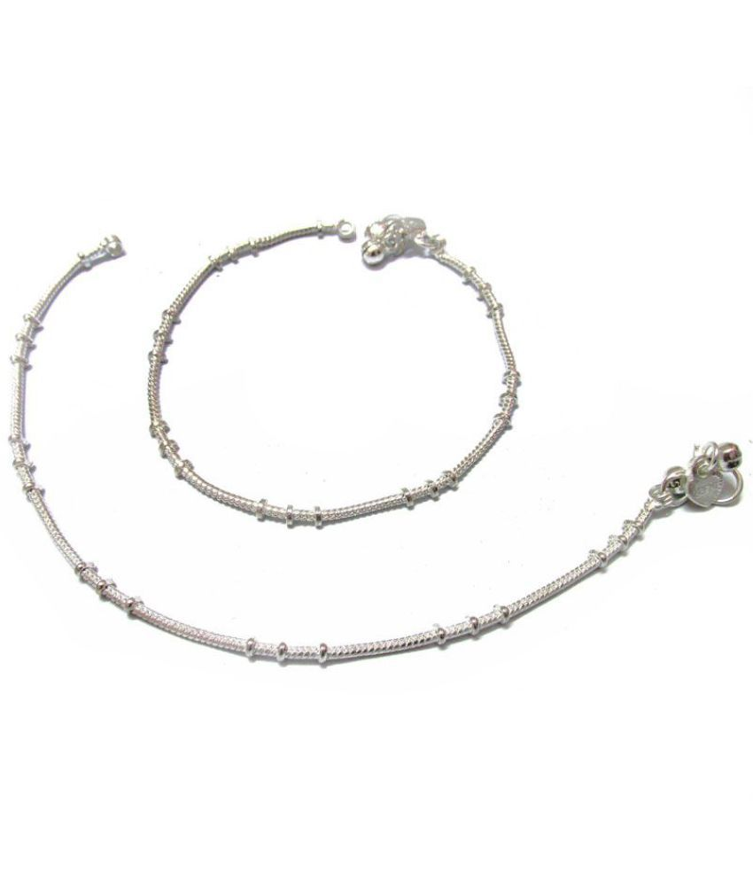 Rabbi Silver Alloy Bridal Pair Of Anklets