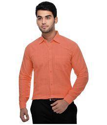 Khadi Orange Regular Fit Formal Shirt
