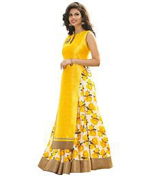 Best Deal Yellow Silk Anarkali Gown Semi-Stitched Suit