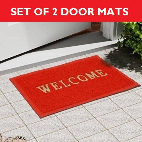 New Ladies Zone Red Door And Bath Mat Set Of 2pc ...