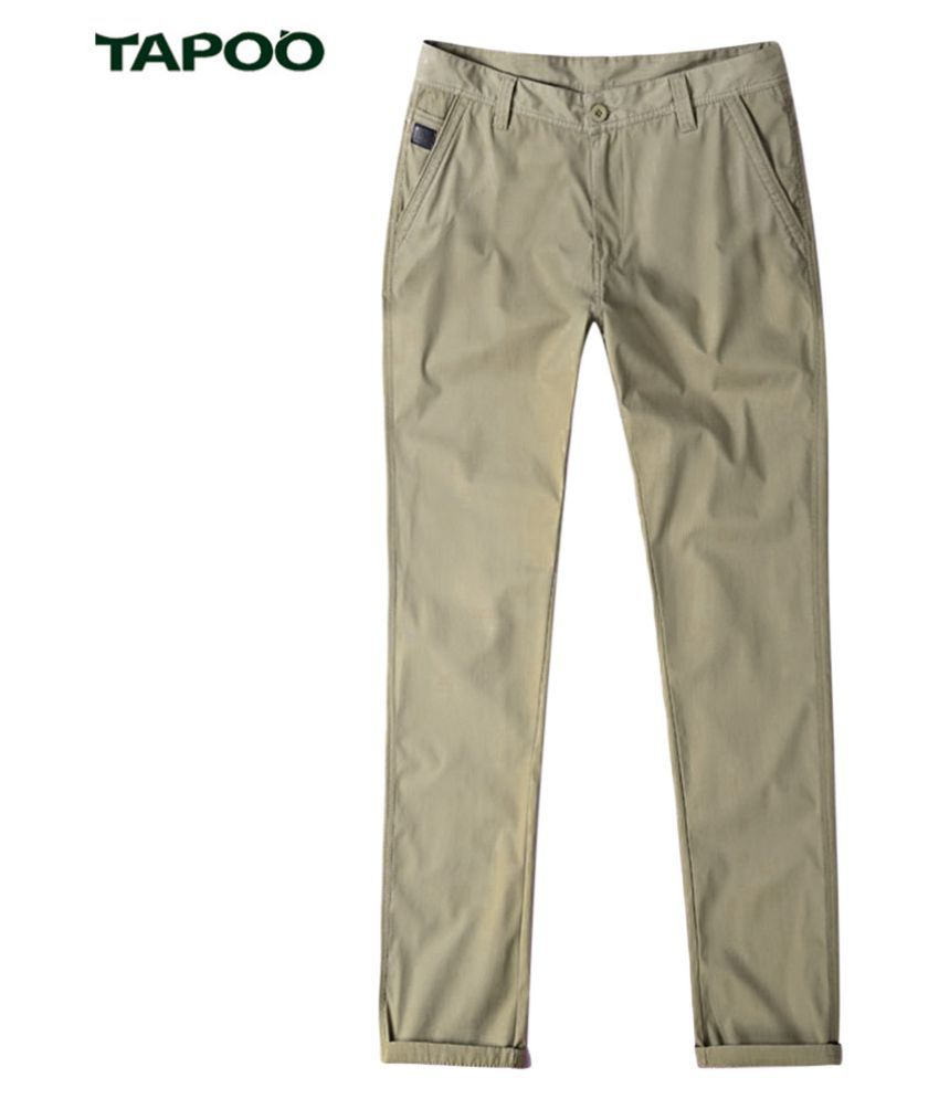 Whitleys Beige Loose -Fit Flat Trousers