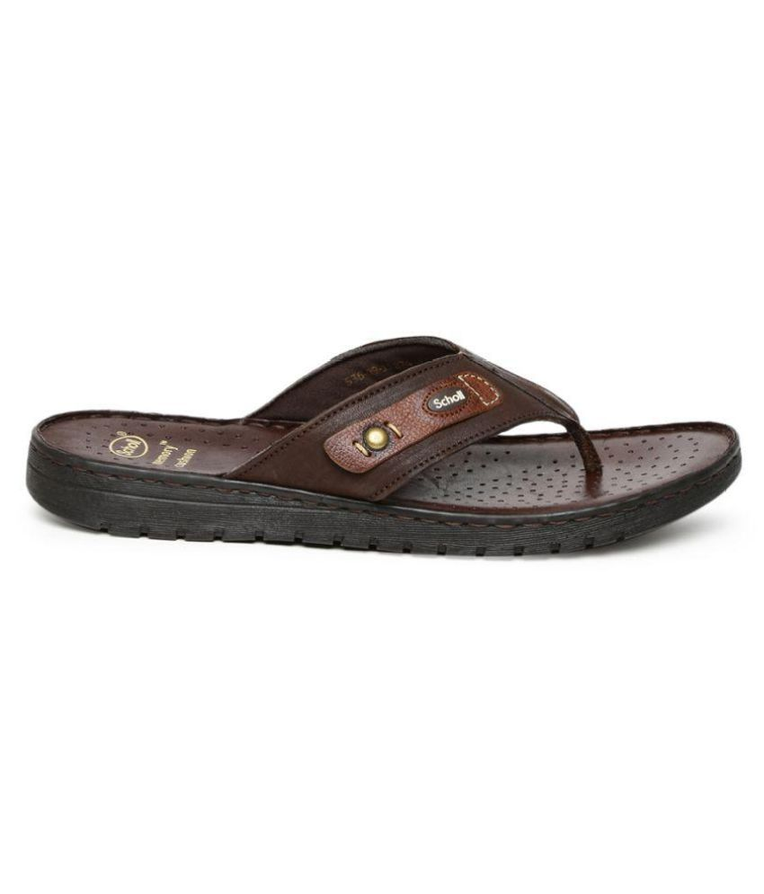 Bata Dr. Scholl Men Brown Sandals Price