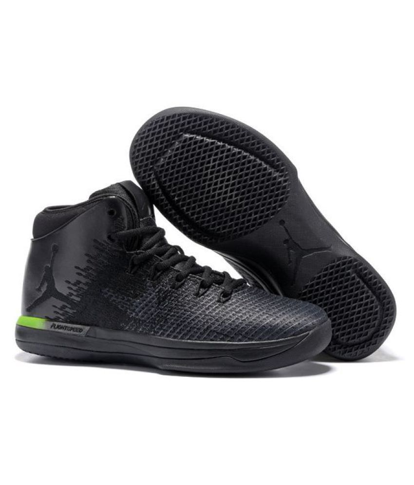 80817c238a2 Nike Air Jordan 31 XXXI Black Basketball Shoes - Buy Nike Air Jordan 31  XXXI Black Basketball Shoes Online at Best Prices in India on Snapdeal