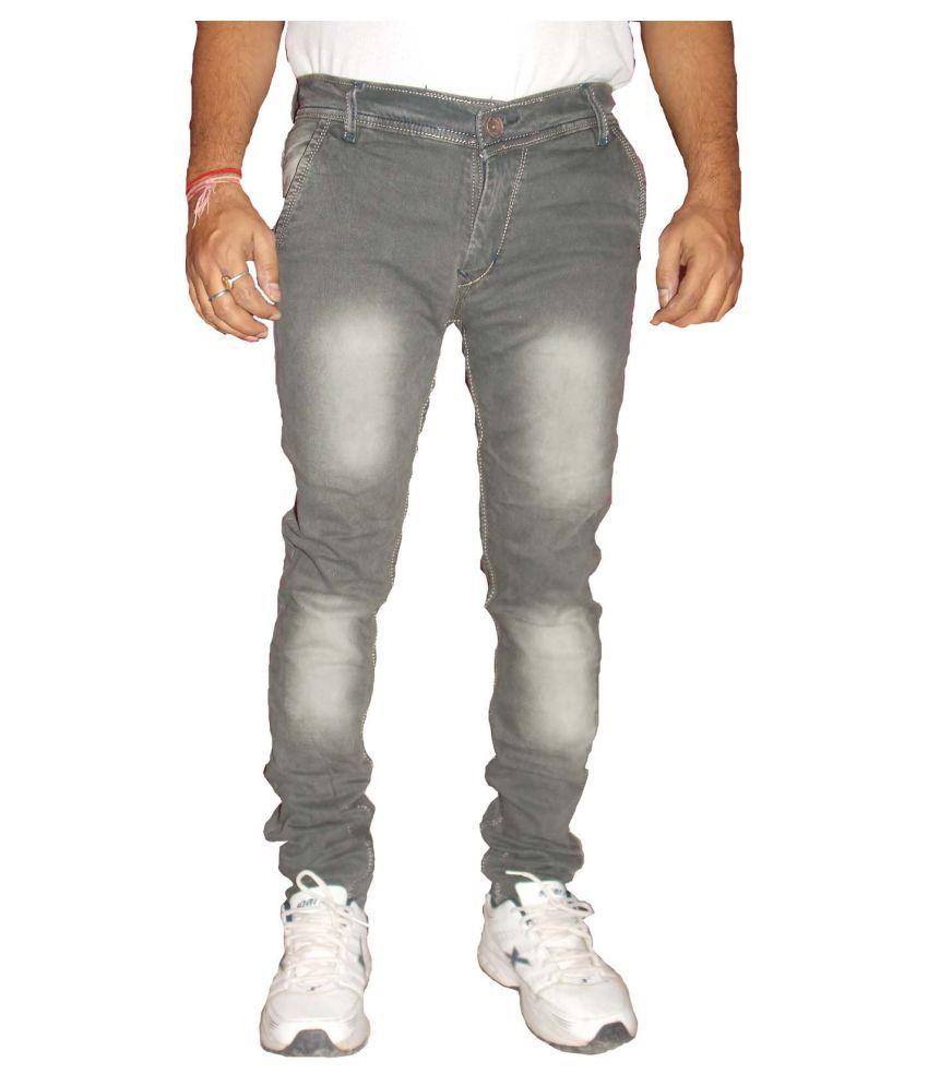 zimboo Grey Regular Fit Jeans