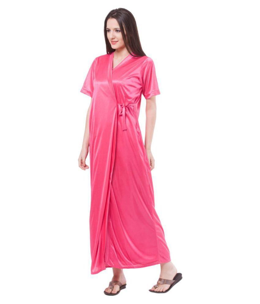 c79569801a Buy Fasense Satin Nighty   Night Gowns - Pink Online at Best Prices ...