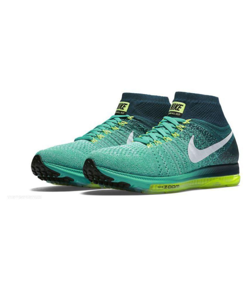 Nike zoom all out long Green Running Shoes - Buy Nike zoom all out long  Green Running Shoes Online at Best Prices in India on Snapdeal d734e11e9