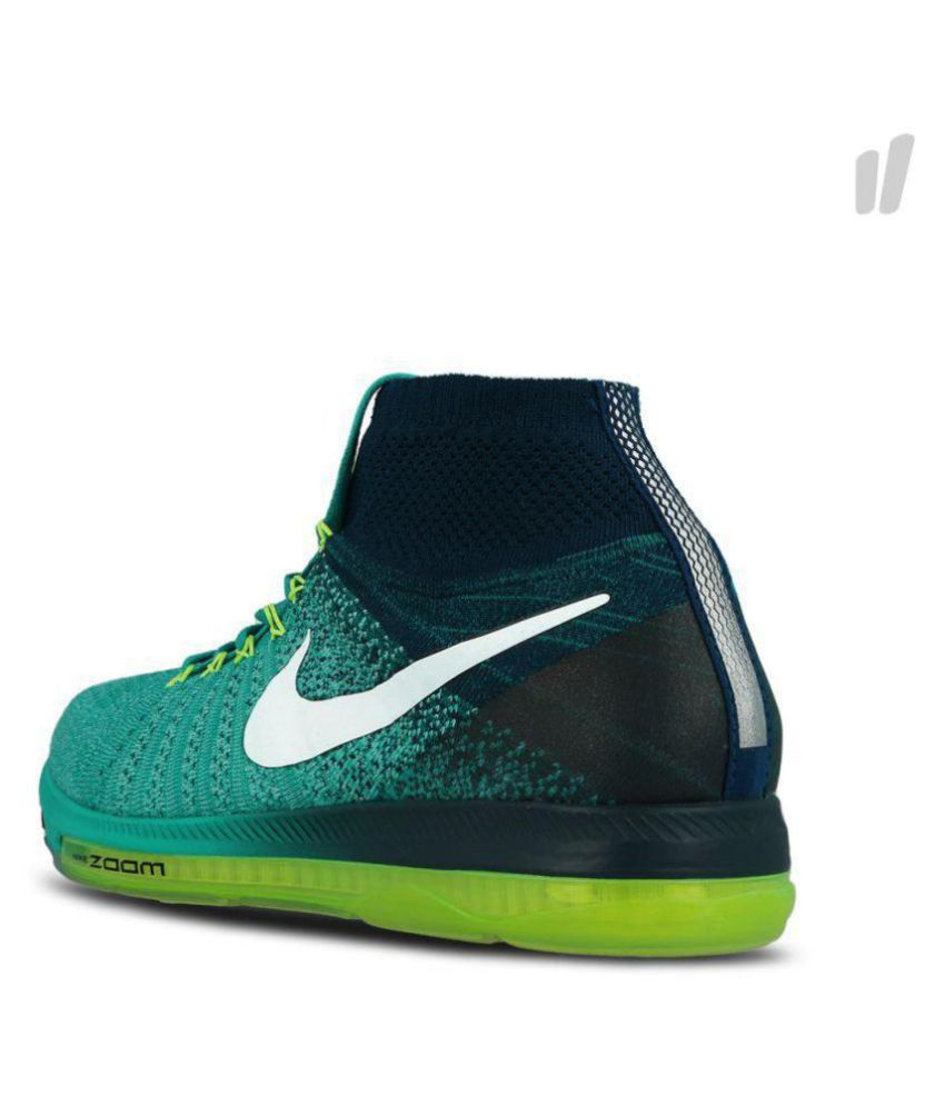 Nike zoom all out long Green Running Shoes - Buy Nike zoom all out ... f4ae9f84e