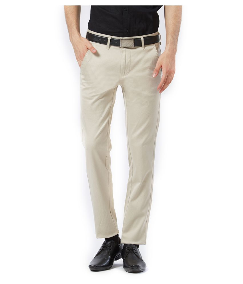 Killer Off White Slim -Fit Flat Trousers