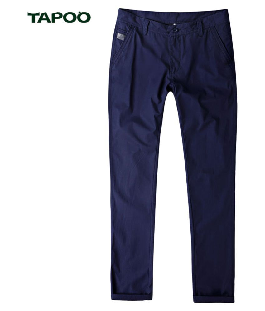 Whitleys Blue Loose -Fit Flat Trousers