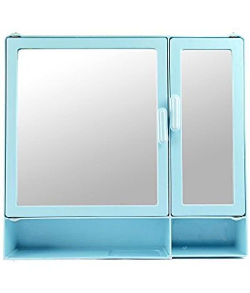 Buy Zoom Butterfly D Shelf Blue Plastic Bathroom Cabinet Online at ...