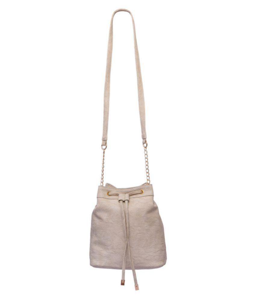 Lychee Bags Cream P.U. Sling Bag