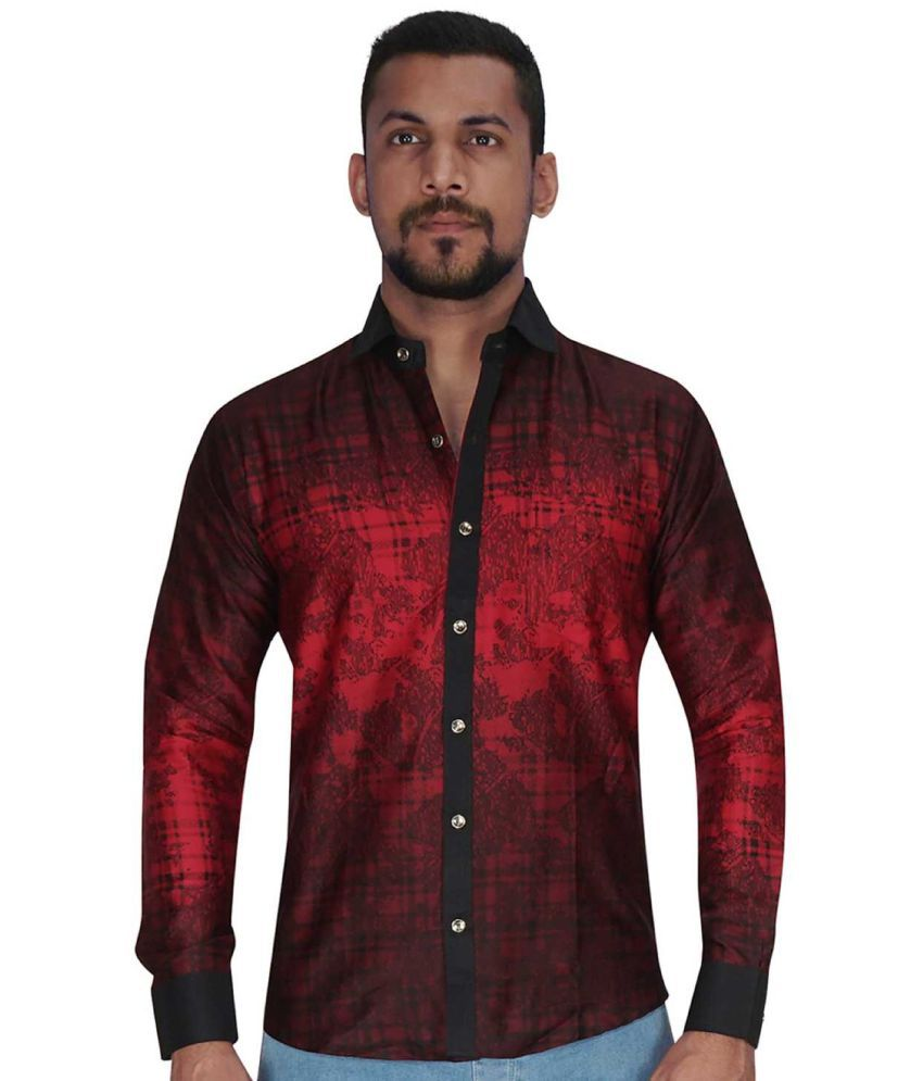 5484018172a7 Corporate Club Red Slim Fit Party wear Shirt - Buy Corporate Club Red Slim  Fit Party wear Shirt Online at Best Prices in India on Snapdeal