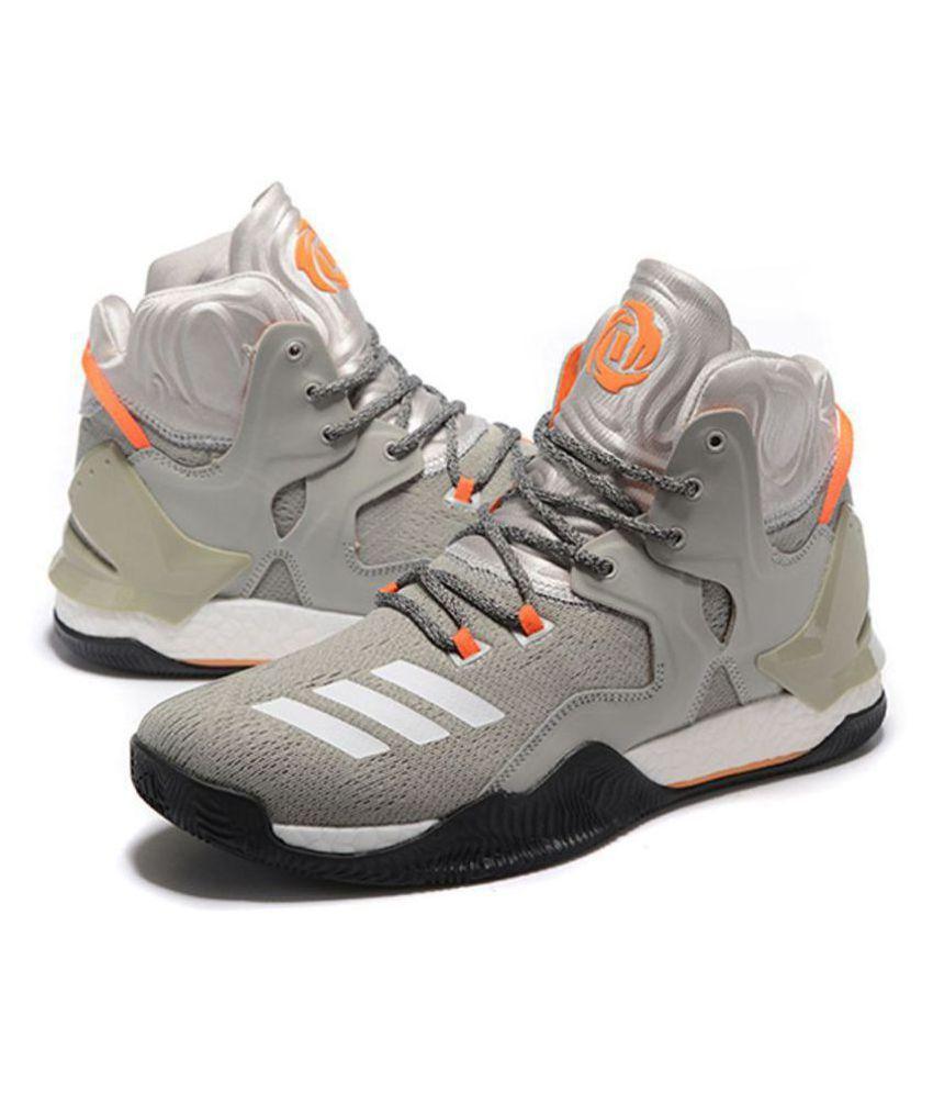 8716b1e523f5 adidas d rose 7 primeknit gray basketball shoes