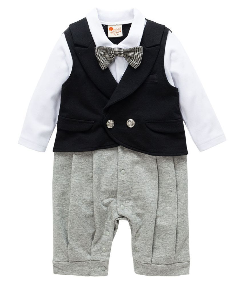 ee1bf7f05 Child Suits Cotton Jumpsuit Rompers Newborn Baby Boy Clothes ...