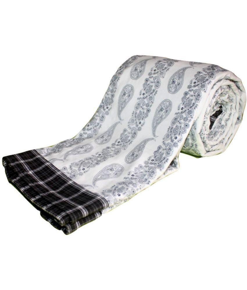 Elan Dreams Single Cotton Black Paisley Dohar Coordinated
